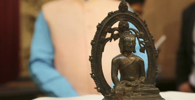 Almost 57 yrs on, UK returns stolen 12th century Buddha statue to India on I-Day