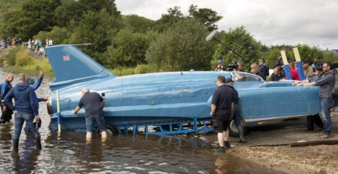Record-breaking Bluebird jet boat floats again after 51 years