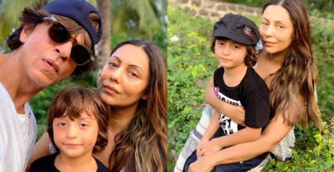 See photos: Shah Rukh Khan and AbRam celebrate Gauri Khan's birthday
