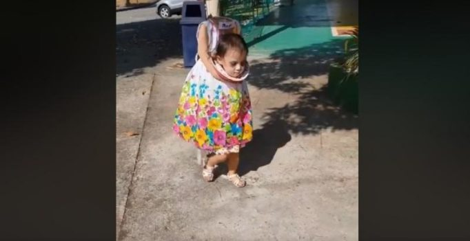 Must Watch: Headless 2-year-old girl goes trick or treating on Halloween