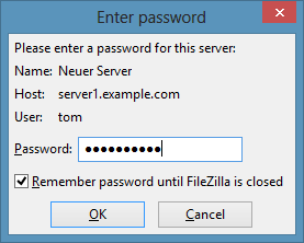 Filezilla-Enter-password