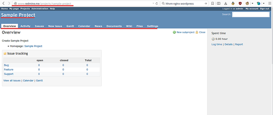 Redmine_Sample_project_Page1