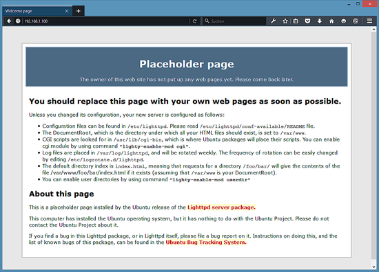 lighttpd_welcome_page