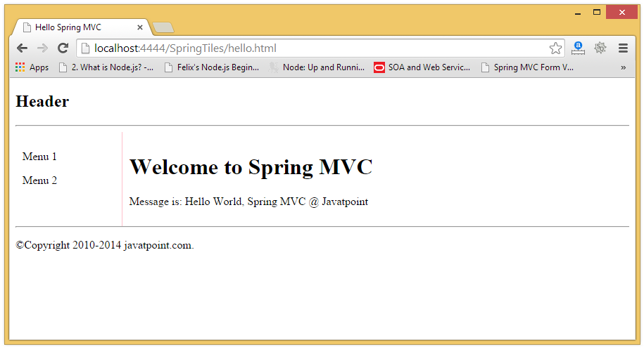 Spring MVC Tiles – Kreation Next – Support
