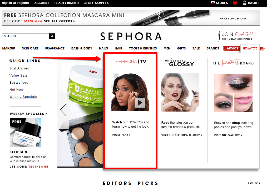 sephora-home-drop-down