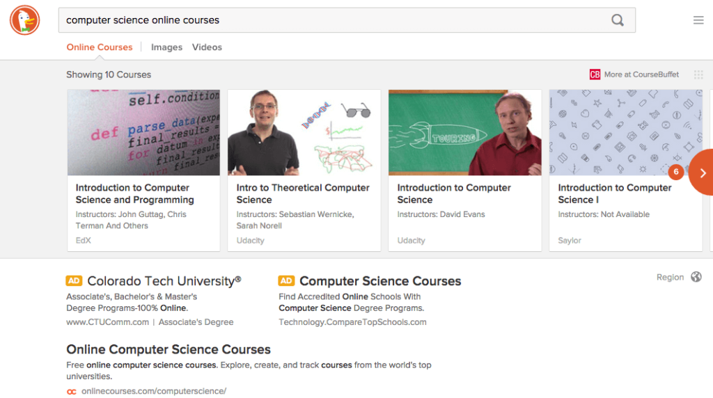 duckduckgo-computer-science-online-courses