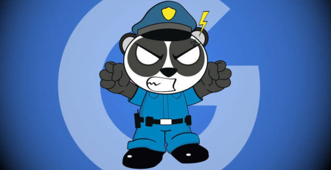 Google Panda demotes or adjusts your rankings down — it does not devalue