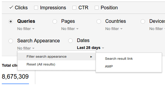 google-search-analytics-amp-filter