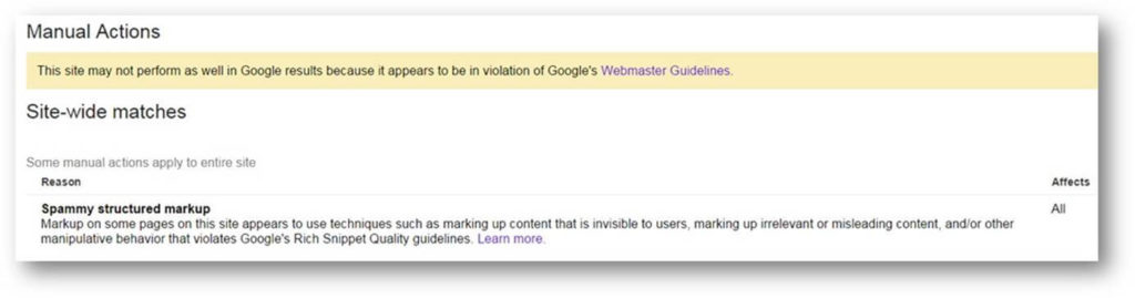 google-structured-data-penalty