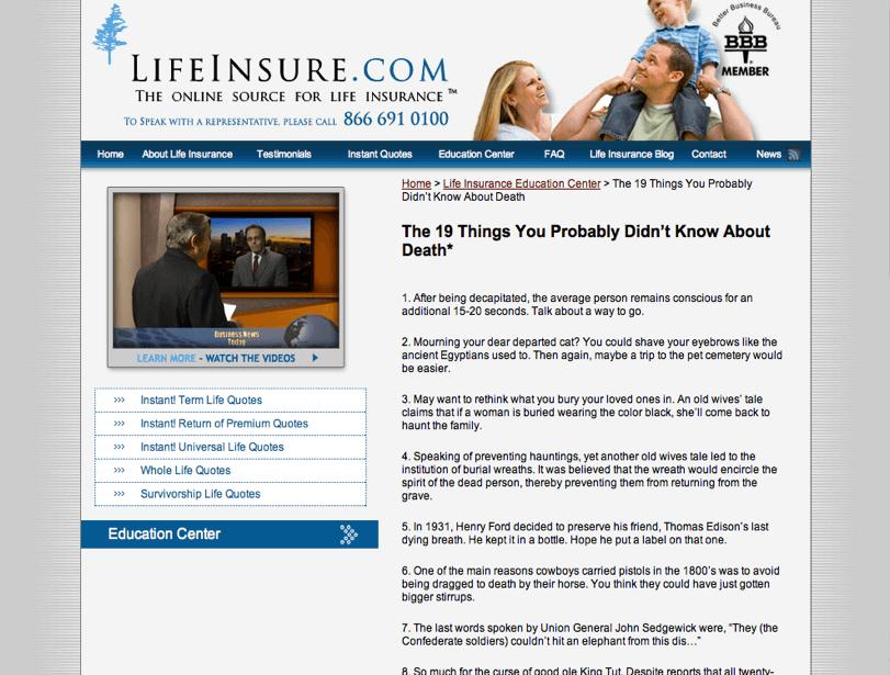 lifeinsure-website