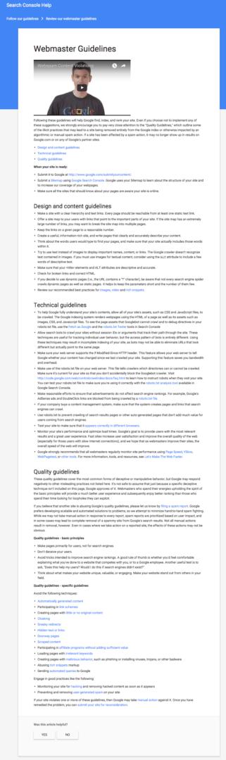 old-google-webmaster-guidelines