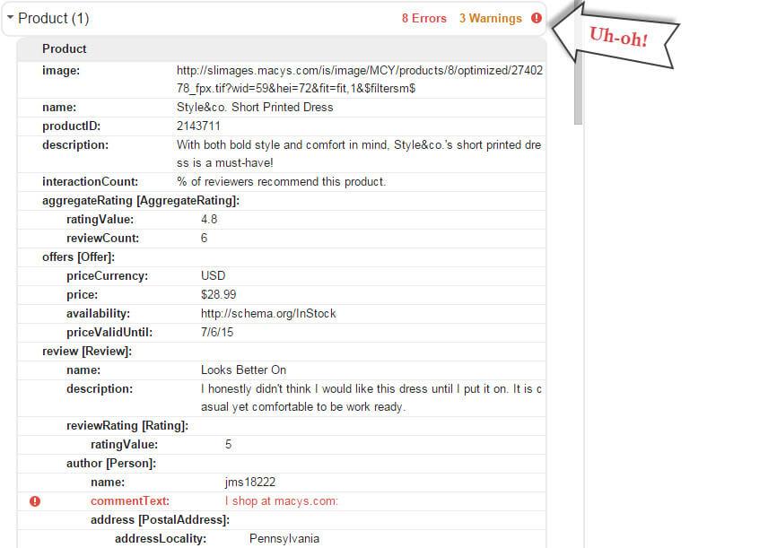 schema-markup-errors-structured-data-testing-tool
