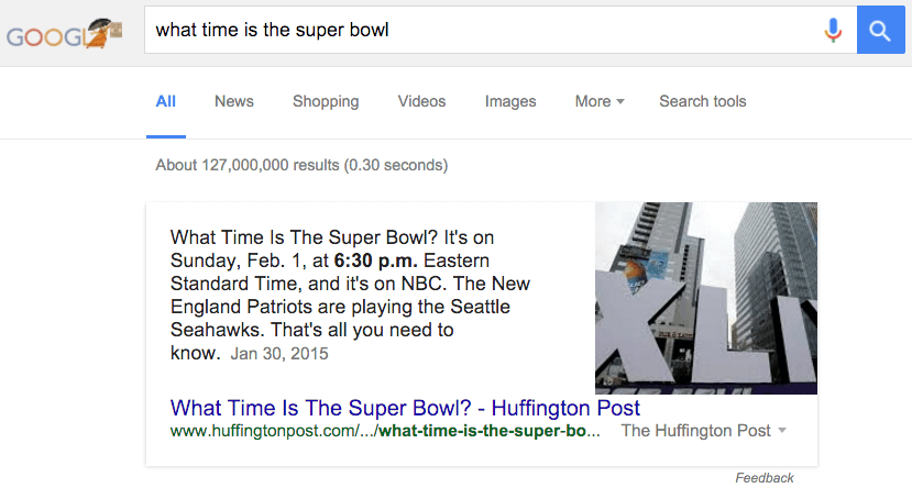 what_time_is_the_super_bowl_-_google_search