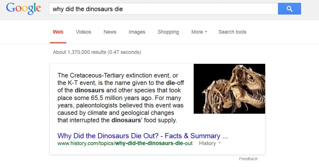 why-did-the-dinosaurs-die