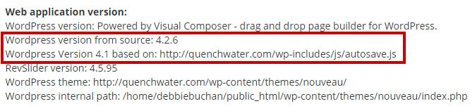 wordpress-version-outdated
