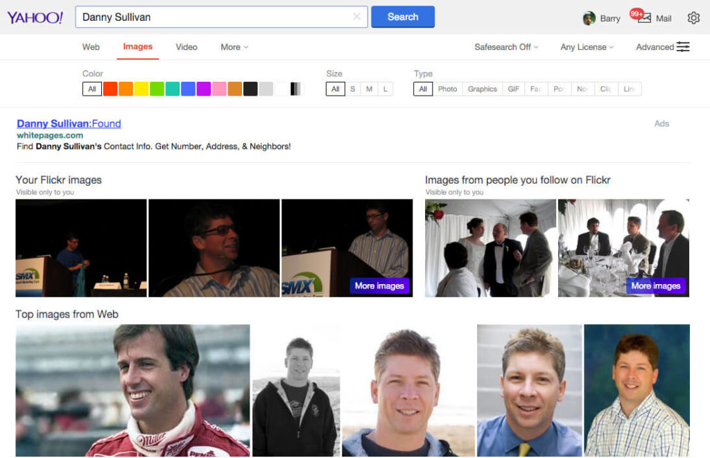 yahoo-image-search-flickr-personalized