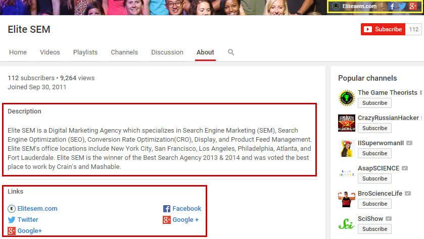 youtube-channel-description-links-optimization