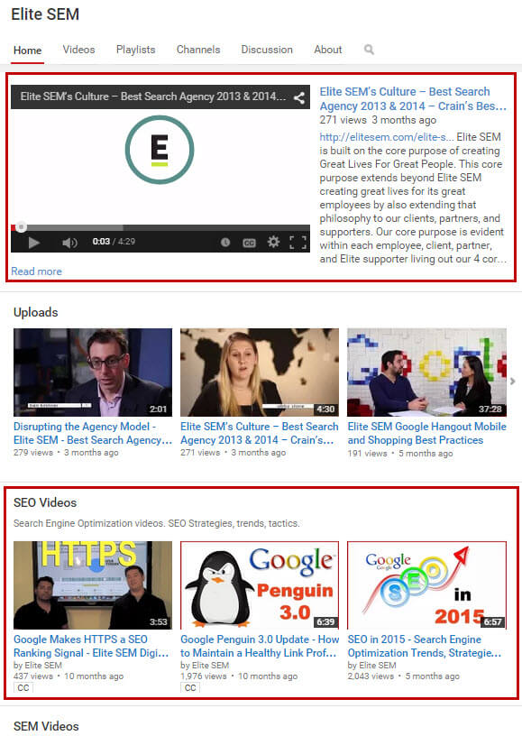 youtube-channel-homepage-optimization
