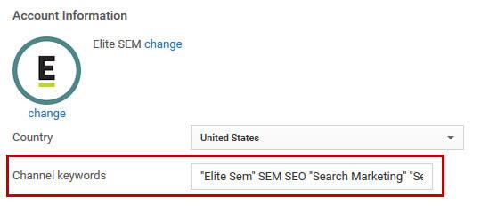 youtube-channel-keywords