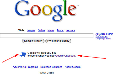 Google Pushing Google Checkout More