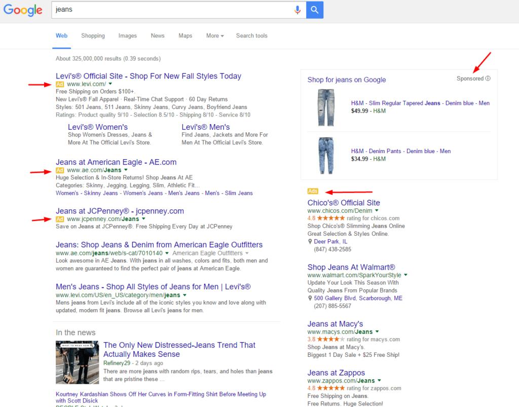 google-jeans-desktop-serp