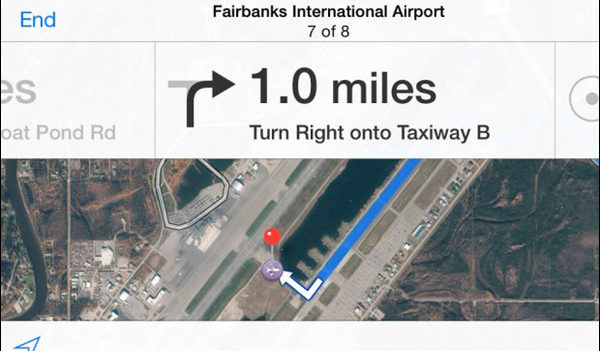 Apple Maps Sends Two Users Driving Across An Airport Runway