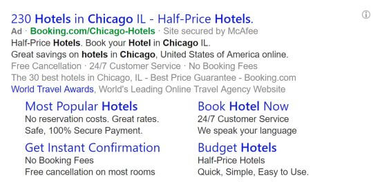 Callout and Review extensions now available in Bing Ads