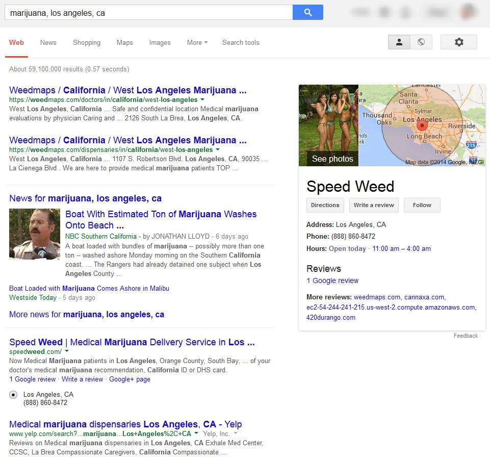 marijuana-serp-google-los-angeles
