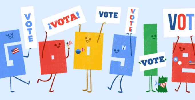 Where do I vote? Google posts Election Day reminder doodle 2 days in a row