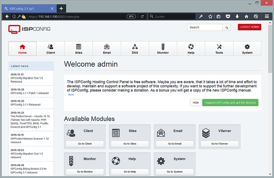 The Perfect Server – Debian 8 6 (nginx, BIND, Dovecot